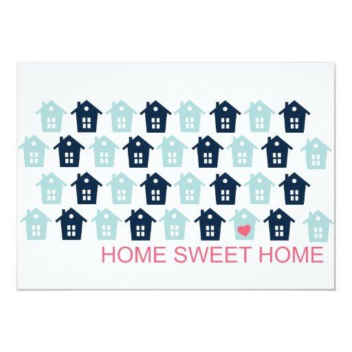 hogar dulce casero invitación 12,7 x 17,8 cm