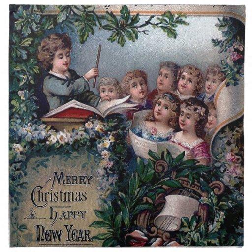 Hogar dulce casero para el navidad servilleta imprimida