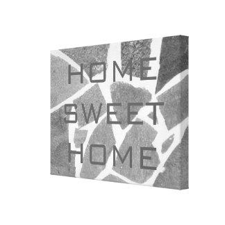 Hogar dulce casero, piedra natural gris de las impresión en lona