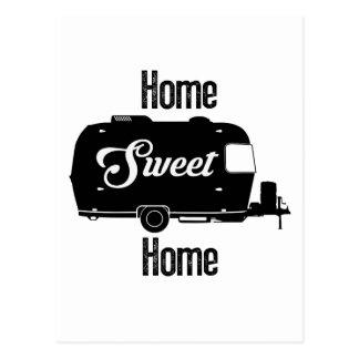 Hogar dulce casero - remolque del vintage del postal