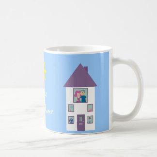 Hogar dulce casero taza de café