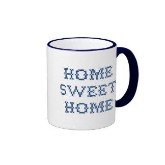 Hogar dulce casero taza a dos colores