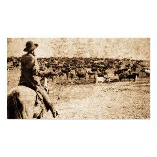 Hogar en oeste del vaquero del vintage de la gama  plantillas de tarjeta de negocio