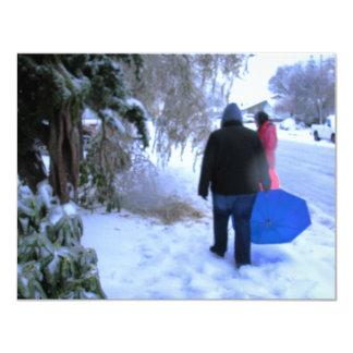 Hogar frío del paseo invitaciones personalizada