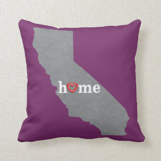 Hogar gris de CALIFORNIA y corazón abierto Cojín
