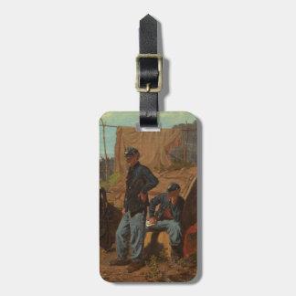 Hogar, hogar dulce, c.1863 (aceite en lona) etiquetas de maletas