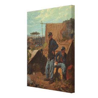 Hogar, hogar dulce, c.1863 (aceite en lona) impresiones en lona estiradas