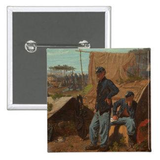 Hogar, hogar dulce, c.1863 (aceite en lona) pin cuadrado
