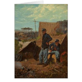 Hogar, hogar dulce, c.1863 (aceite en lona) tarjeta de felicitación