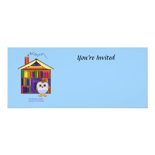 """¡Hogar ideal - biblioteca! Invitación 4"""" X 9.25"""""""