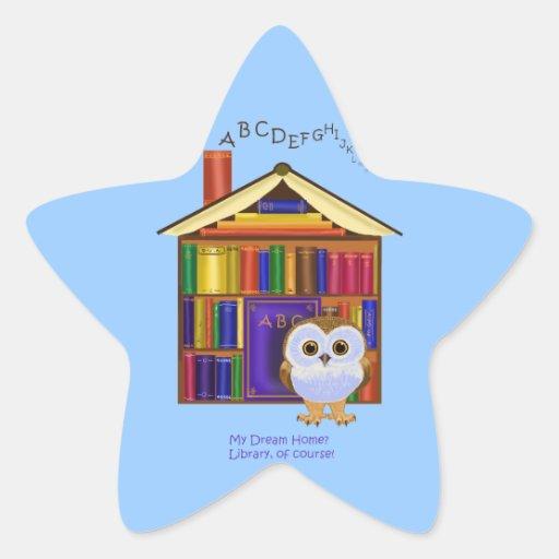 ¡Hogar ideal - biblioteca! Etiquetas