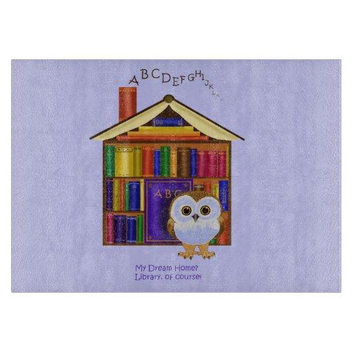 ¡Hogar ideal - biblioteca! Tabla Para Cortar