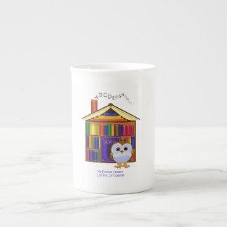 ¡Hogar ideal - biblioteca! Taza De Porcelana
