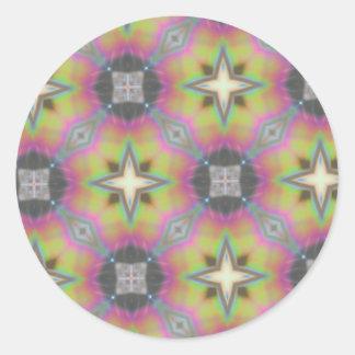 Hogar multicolor de la oficina del regalo, pegatina redonda