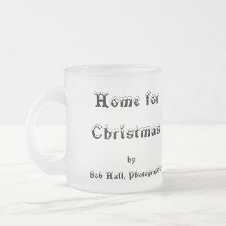 Hogar para el navidad taza cristal mate