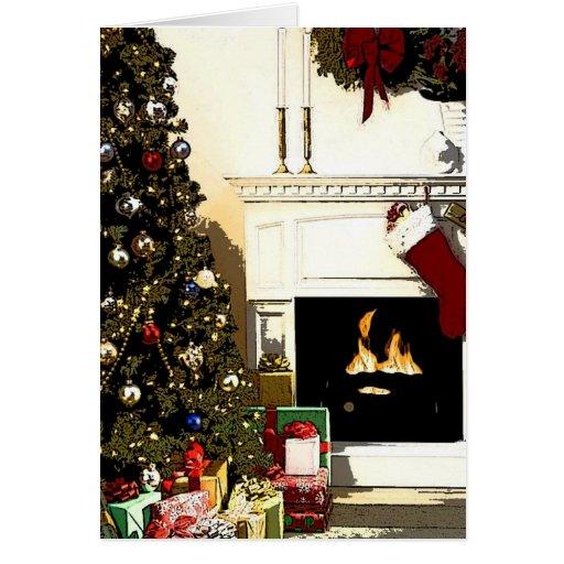 Hogar para la tarjeta de Navidad