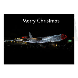 Hogar para la tarjeta plana del navidad