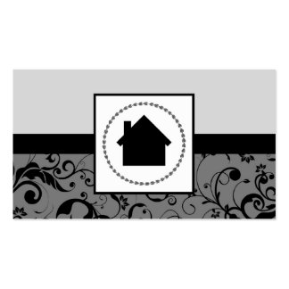 hogar profesional del damasco del agente inmobilia plantilla de tarjeta de negocio