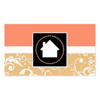 hogar profesional del damasco del agente tarjetas de visita