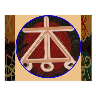 HOGAR - símbolo curativo de Karuna Reiki Postal