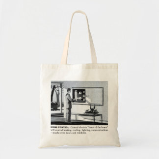 Hogar teledirigido de los suburbios del kitsch 60s bolsa tela barata