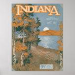 Hogar trasero otra vez en Indiana Posters
