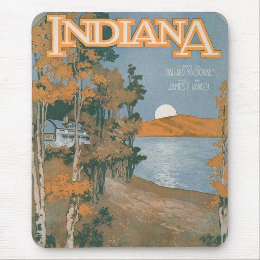 Hogar trasero otra vez en Indiana Tapetes De Raton