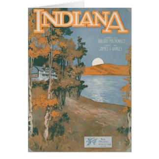 Hogar trasero otra vez en Indiana Tarjeta De Felicitación