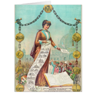 Hogares libres 1890 tarjeta de felicitación grande