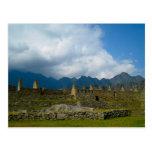 Hogares majestuosos de Macchu Picchu Postal