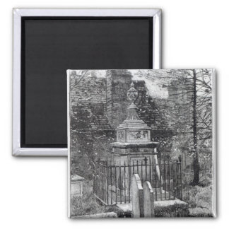 Hogarth's tomb in Chiswick Churchyard 2 Inch Square Magnet