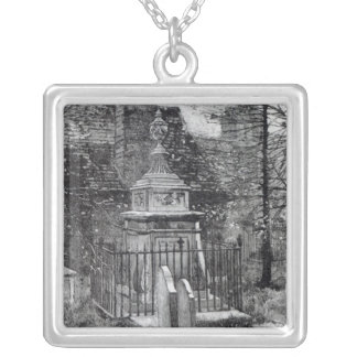 Hogarth's tomb in Chiswick Churchyard Silver Plated Necklace