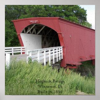 Hogback Bridge Winterset IA Poster