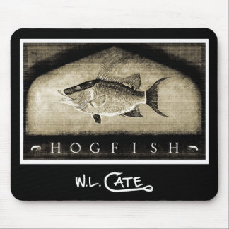 Hogfish Vintage Black & White Mouse Pads