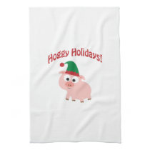 Hoggy Holidays! Elf Pig Towel