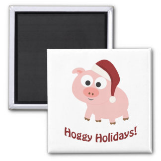 Hoggy Holidays! Magnet