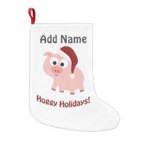 Hoggy Holidays! Santa Pig Small Christmas Stocking