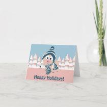 Hoggy Holidays! Winter Pig Holiday Card