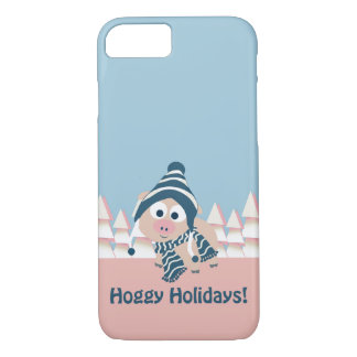 Hoggy Holidays! Winter Pig iPhone 8/7 Case