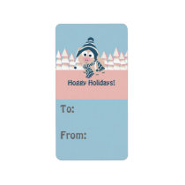 Hoggy Holidays! Winter Pig Label