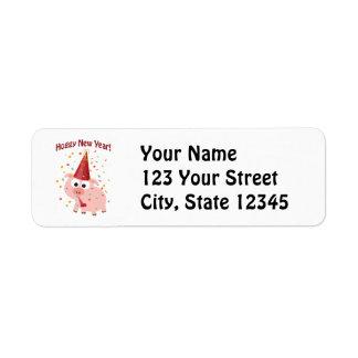 Hoggy New year! Return Address Labels