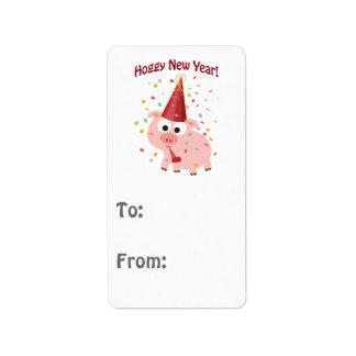 Hoggy New year! Address Label