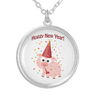 Hoggy New year! Silver Plated Necklace