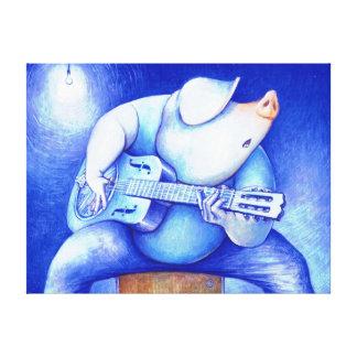 Hoggy Plays The Blues Canvas Print