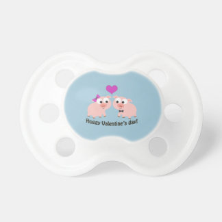 Hoggy Valentines Day Pigs BooginHead Pacifier