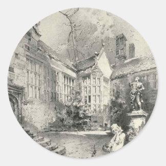 Hoghton Tower Classic Round Sticker