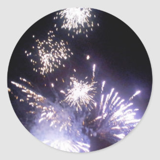 Hogmanay Fireworks Classic Round Sticker