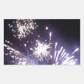 Hogmanay Fireworks Rectangular Sticker