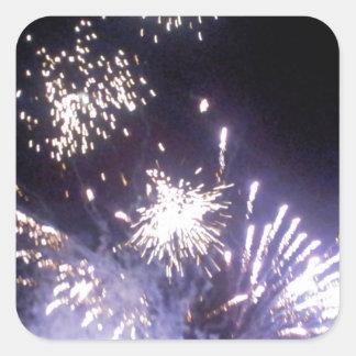 Hogmanay Fireworks Square Sticker