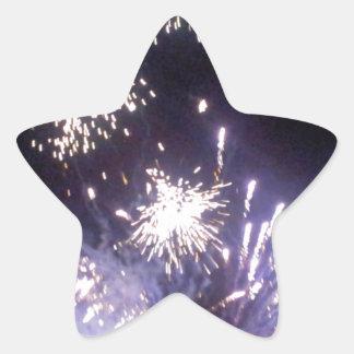 Hogmanay Fireworks Star Sticker